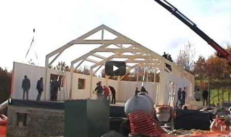 Vidéo: Montage d'une ossature bois à Malmedy