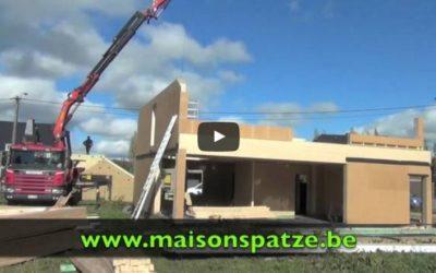 Vidéo: Montage d'une maison à ossature bois Bastogne
