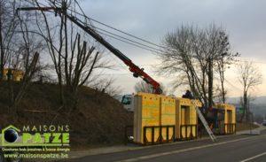 Ossature bois basse énergie à Plombières