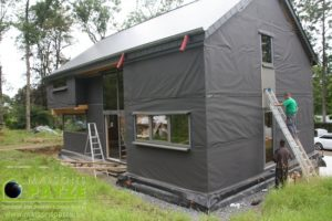 Maison ossature bois basse énergie à Ferrières