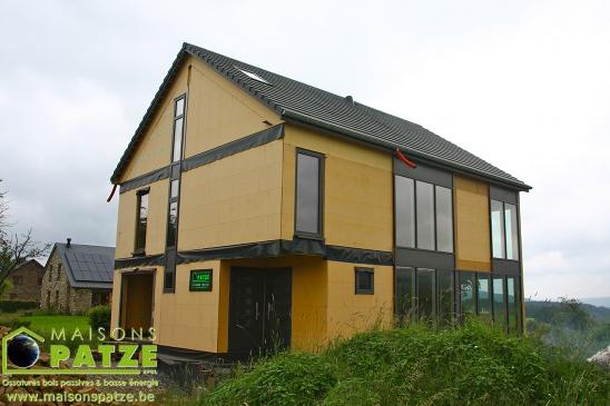 Maison passive en ossature bois à Stoumont