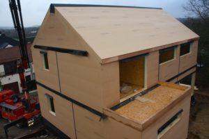 Maison à ossature bois basse énergie à Genappe (Brabant wallon)