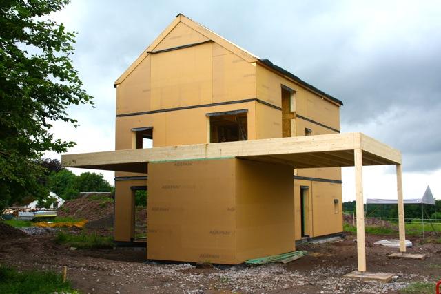 Maison basse énergie à ossature bois à Werbomont (Ferrières – Liège)