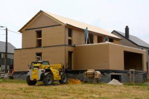 Maison ossature bois basse énergie à Marvie (Bastogne – Luxembourg)