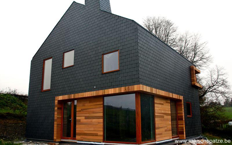 Construction d'une maison ossature bois basse énergie à Bertrix (Luxembourg)