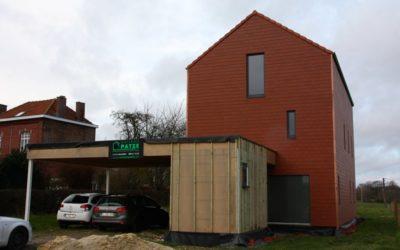 Construction d'une maison ossature bois basse énergie à Hannut (Liège)