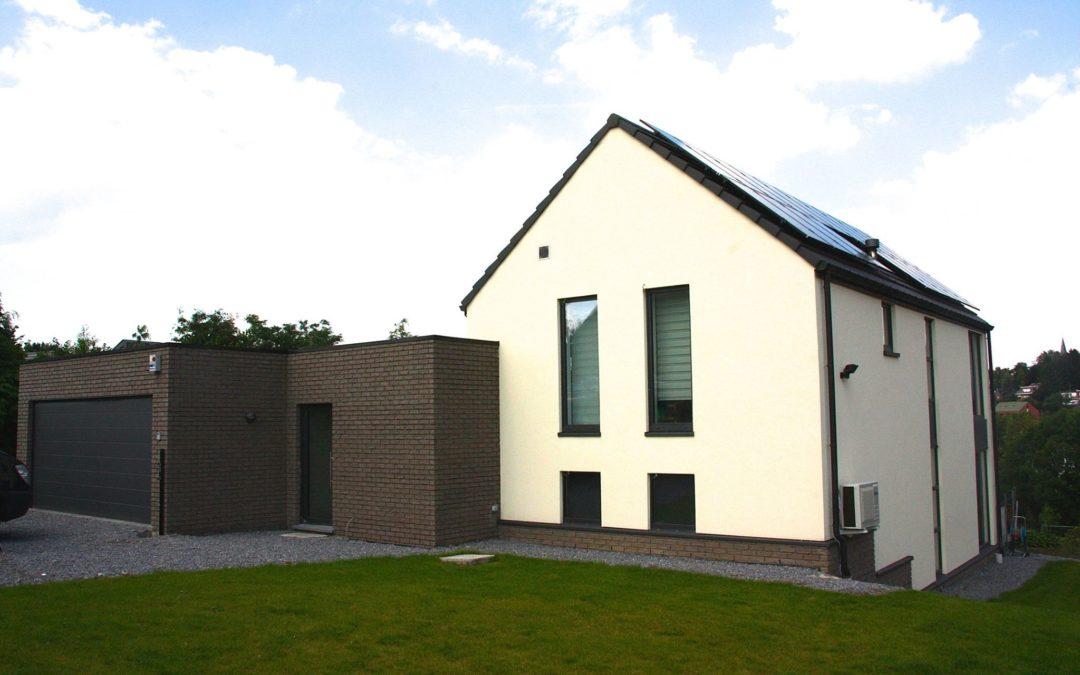 Maison à ossature bois basse énergie à Soumagne (Liège)