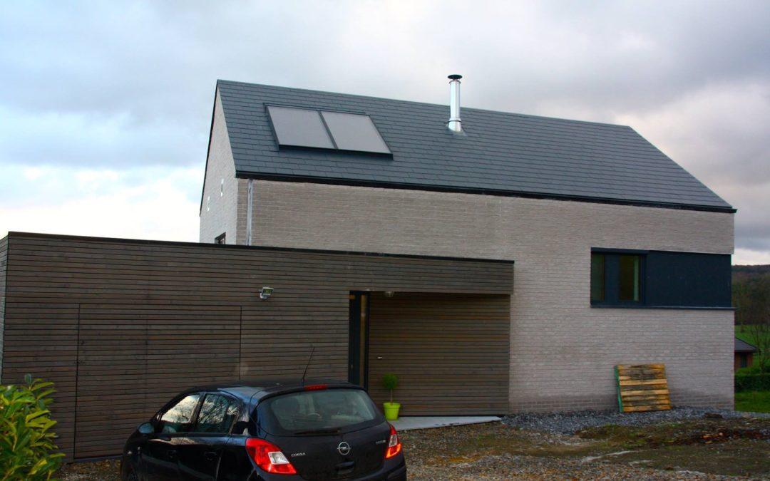 Maison à ossature bois à Marche-en-Famenne (Luxembourg)
