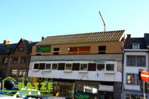 Rehaussement d'un immeuble avec une ossature en bois à Malmedy