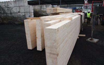 Structure à ossature bois pour un auvent au Port Autonome de Liège