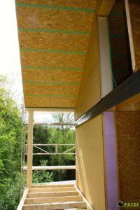 Montage d'une annexe en ossature bois à Bertrix