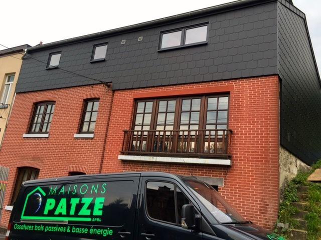 Extension d'une maison en ossature bois de 240 mm à Pepinster