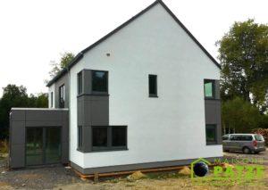 Maison ossature bois terminée à Jamoigne