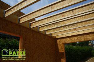 Ossature bois: Annexe à Malmedy