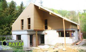 Transformation d'une maison et reconstruction en ossature bois à Ferrières
