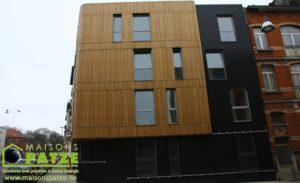 Immeuble en ossature bois passif à Anderlecht