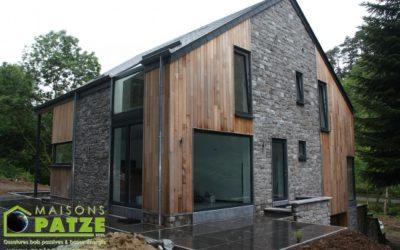 Transformation d'une maison et reconstruction en ossature bois