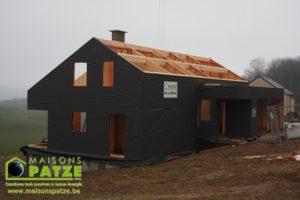 Maison basse énergie ossature bois à Sprimont