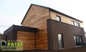 Maison passive ossature bois à Omal