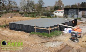 Maison passive ossature bois à Omal - Fondations