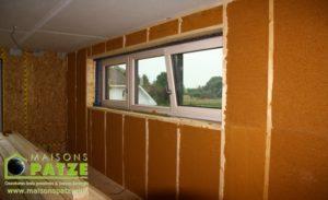 Maison passive ossature bois à Omal - Isolation