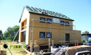 Maison passive ossature bois à Omal - Toiture