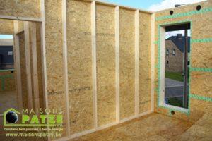 Maison à ossature bois basse énergie à Bastogne