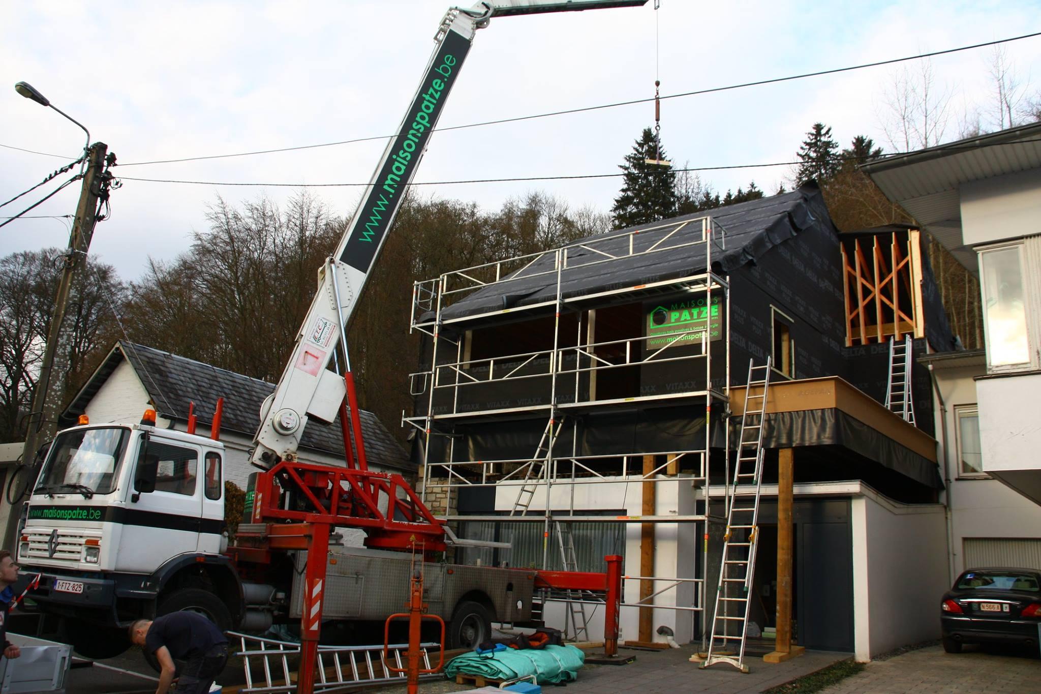 Ré-hausse d'un étage sur une habitation basse énergie à Malmedy (province de Liège)