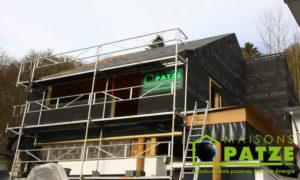 Ossature bois - ré-hausse de maison à Malmedy