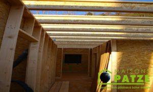 Ossature bois - ré-hausse de maison à Malmedy - Structure