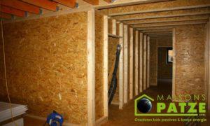 Ossature bois - ré-hausse de maison à Malmedy - Composition