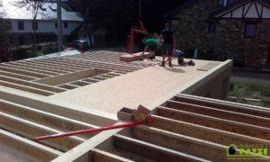 Chantier à Malmedy: Maison Patze a réalisé le montage d'une ossature bois