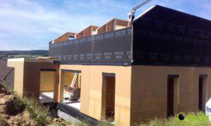 Montage d'une maison à ossature bois à Malmedy