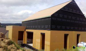 Ossature bois - Chantier à Malmedy (Ligneuville)