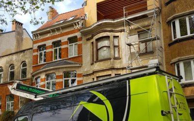 Rehaussement d'un immeuble sur 2 étages à Schaerbeek (Bruxelles)