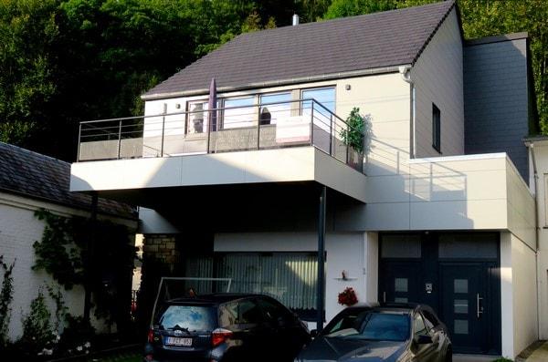 Rehaussement d'une habitation existante à Malmedy