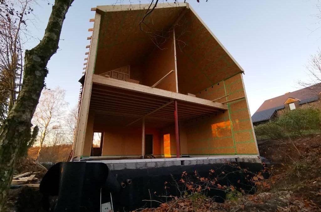 Construction d'une maison unifamiliale basse énergie à Manhay