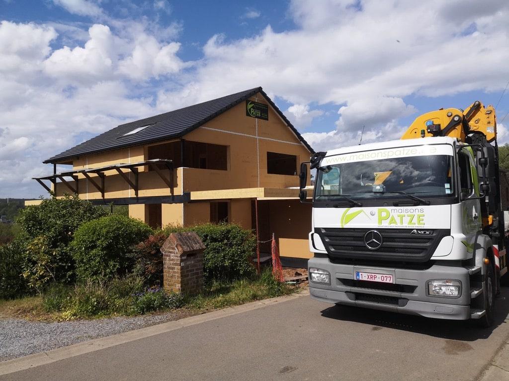 Montage d'une maison unifamiliale basse énergie à Tilff